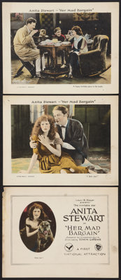 "Her Mad Bargain (First National, 1921). Title Lobby Card & Lobby Cards (2) (11"" X 14""). Romance. ... (..."