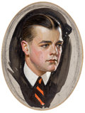 Mainstream Illustration, JOSEPH CHRISTIAN LEYENDECKER (American, 1874-1951). Preliminarystudy, Cluett, Peabody & Co, Arrow collar advertisement,...