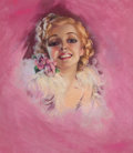 Pin-up and Glamour Art, ZOE MOZERT (American, 1904-1993). Portrait of a Woman.Pastel on paper. 24 x 21 in.. Signed center left. ...