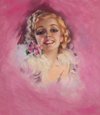 ZOE MOZERT (American, 1904-1993) Portrait of a Woman Pastel on paper 24 x 21 in. Signed center