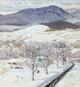 JOHN FORD CLYMER (American, 1907-1989) A Snowy Day, study Gouache on board 9.75 x 9 in. Signed lower right