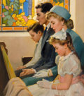 Mainstream Illustration, ANDREW LOOMIS (American, 1892-1959). Prayer. Oil on canvas.24 x 21 in.. Signed lower right. ...