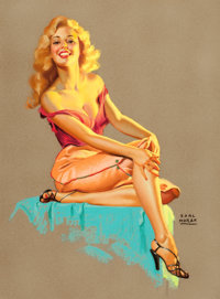 EARL MORAN (American, 1893-1984) Marilyn Pastel on board 30.75 x 22.5 in. Signed lower right
