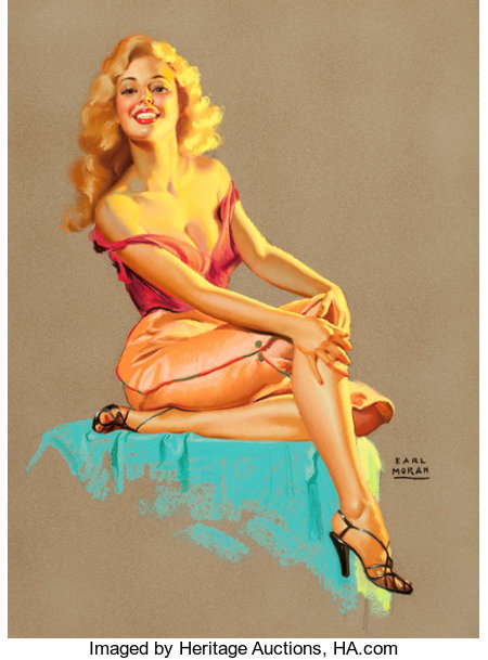 EARL MORAN (American, 1893-1984)MarilynPastel on board30.75 x 22.5 in.Signed lower right...