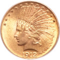 Indian Eagles, 1912 $10 MS64+ PCGS. CAC....