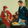 Paintings, HARRY V. PARKHURST (American, 20th Century). The Stick-Up, pulp magazine cover, Complete Detective Novel Magazine, July ...