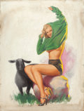 Pin-up and Glamour Art, EARL MORAN (American, 1893-1984). Marilyn. Pastel on board.26.5 x 20.25 in.. Not signed. ...
