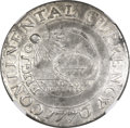 Colonials, 1776 $1 Continental Dollar, CURRENCY, Pewter AU58 NGC. Newman 2-C,Hodder 2-A.3, W-8455, R.4....