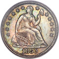 Seated Half Dimes, 1853 H10C No Arrows MS66 PCGS....