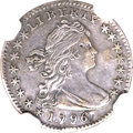 Early Half Dimes, 1796 H10C LIKERTY--Repaired--NGC Details. AU. V-1, LM-1, R.3....