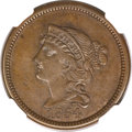 Patterns, 1854 P1C One Cent, Judd-160, Pollock-187, R.4, PR61 Brown NGC....