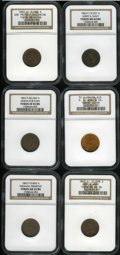 Civil War Patriotics: , Civil War Group Lot. Consists of: an 1863 God Protect the Union,Fuld-5/288A, R.2, MS64 Red and Brown NGC; 1863 Union For ...(Total: 6 tokens)