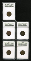 Civil War Patriotics: , 1863 Liberty Head/Army & Navy AU58 ANACS, Fuld-8/314a, R.1,slight rub on cheek, medium brown and attractive, granular from ...(Total: 5 Items)
