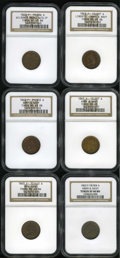 Civil War Patriotics: , 1863 Civil War Patriotic Group. Includes six patriotic tokens, alldated 1863: Liberty/Army & Navy, Fuld-12/297A, R.2, MS6...(Total: 6 tokens)