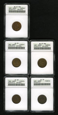 Civil War Patriotics: , 1863 Army & Navy AU58 ANACS, Fuld-18/304a, R.7, a lovelynear-Mint token, misaligned and rotated reverse die; 1863 Army& ... (Total: 5 Items)