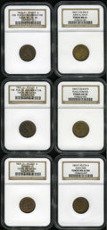 Civil War Patriotics: , Patriotic Civil War Group. All NGC-certified. Consists of: 1863Liberty/Army & Navy, Fuld-23/306B, R.1, MS61 NGC; 1863 Pea...(Total: 6 tokens)