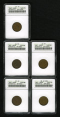Civil War Patriotics: , 1863 Public Accomodation/Horrors of War XF40 ANACS, Fuld-37/256a,R.2, light brown and attractive, the Liberty head from the...(Total: 5 Items)