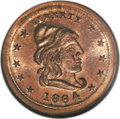 Civil War Patriotics: , 1864 Our Army, Fuld 46/335D, MS66 NGC. Copper. A fully lustrousCivil War token that in our opinion is an MS66 Red. This lit...