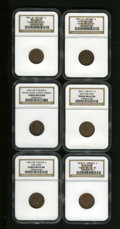 Civil War Patriotics: , Patriotic Civil War Group Lot. Consists of: an (1861-65) Our Army,Fuld-54/335A, R.3, MS64 Brown NGC; (1861-65) Penny Save... (Total:6 tokens)