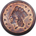 Civil War Patriotics: , 1864 Union For Ever, Fuld 54/343A, R.6, MS65 Red and Brown NGC.Copper. The current Kanzinger catalog value in MS60 is $300....