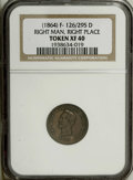 Civil War Patriotics: , 1864 Right Man In The Right Place, Fuld 126/295D, XF40 NGC. Copper.Abraham Lincoln Civil War tokens are as popular today as...