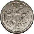 Civil War Patriotics: , 1863 United We Stand Divided We Fall, Fuld 167/435J, R.8, MS64 NGC.German silver. This very scarce token is listed in the ...