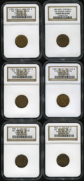 Civil War Patriotics: , Patriotic Civil War Group. Six tokens, starting with an R.7(1861-65) The Federal Union, Fuld-220/322B, MS64 NGC, a gorg...(Total: 6 tokens)