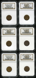 Civil War Patriotics: , Civil War Patriotic Group. Consists of: an (1861-65) The FederalUnion, Fuld-223/328A, R.2, MS64 Red and Brown NGC; (1861-...(Total: 6 tokens)