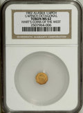Alaska Tokens: , 1902 Octagonal 1/4 Pinch MS62 NGC. Gould-Bressett 151. Indian head left with 13 stars. An attractive apricot-gold representa...