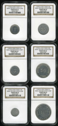 Alaska Tokens: , Alaska Rural Rehabilitation Corporation Group Lot, MS63 NGC. Thissix-piece group includes the one cent to the one dollar, w...(Total: 6 tokens)