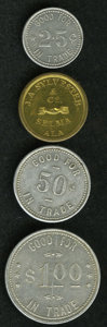 20th Century Tokens and Medals: , Uncertified Lot of Merchant Tokens. Includes three from Harry Brown of Kobuk, Alaska. The denominations are 25 cents, 50 cen... (Total: 4 tokens)
