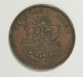 Australian Tokens: , Australian 19th Century Merchant Token Group. Consists of twomerchant tokens: a T. Butterworth & Co. of Castlemaine,Victor... (Total: 2 tokens)