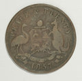 Australian Tokens: , Australian 19th Century Merchant Token Group Lot. Consists of threepenny tokens, all listed in Krause: KM Tn-131, KM Tn-13... (Total:3 tokens)