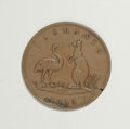 Australian Tokens: , Australian 19th Century Merchant Token Group Lot. Consists of twotokens: a halfpenny issued by Lewis Abrahams in 1855, KM T...(Total: 2 tokens)