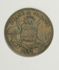 Australian Tokens: , Australian 19th Century Merchant Token Group Lot. Consists of threetokens, all issued by Hanks & Compy., Sydney, N.S.W.: tw...(Total: 3 tokens)