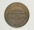 Australian Tokens: , Australian 19th Century Merchant Token Group Lot. Consists of: ahalfpenny issued by Crocker & Hamilton of Adelaide, South A...(Total: 2 tokens)