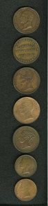 New Zealand Tokens: , New Zealand 19th Century Merchant Token Group Lot. Included seven miscellaneous tokens, including a KM Tn-66, KM Tn-64, and ... (Total: 7 tokens)