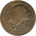 1793 1C Wreath Cent--Vine and Bars--Corroded--ANACS. VG8 Details. S-6, B-7, R.3. This chocolate-brown example is well wo...