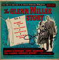 Movie/TV Memorabilia:Autographs and Signed Items, James Stewart and June Allison Autographed The Glenn MillerStory Soundtrack EP....