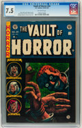 Golden Age (1938-1955):Horror, Vault of Horror #34 Williamsport pedigree (EC, 1954) CGC VF- 7.5Off-white pages. ...