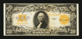 Large Size:Gold Certificates, Fr. 1187 $20 1922 Gold Certificate Choice About New.. ...