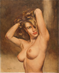 PAL FRIED (Hungarian/American, 1893-1976) Sandra Oil on canvas 30 x 24 in. Signed lower left