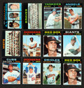 Baseball Cards:Sets, 1971 Topps Baseball Mid To High Grade Starter Sets (Approx. 600 cards) With 130 High Numbers . ...