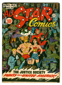 All Star Comics #16 (DC, 1943) Condition: FN