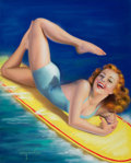 Pin-up and Glamour Art, BILLY DEVORSS (American, -1985). An American Beauty, calendarpin-up, c. 1940. Pastel on board. 23 x 18.5 in.. Signed lo...