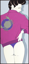 Pin-up and Glamour Art, PATRICK NAGEL (American, 1945-1984). Zodiac, Playboy Pin-Up,circa 1980s. Acrylic on board. 20 x 9 in. (window). Not sig...