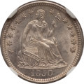 Seated Half Dimes: , 1850 H10C MS64 NGC. NGC Census: (62/48). PCGS Population (39/39).Mintage: 955,000. Numismedia Wsl. Price for problem free ...