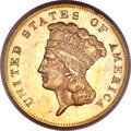 Three Dollar Gold Pieces, 1872 $3 MS64 PCGS. CAC....