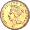 Three Dollar Gold Pieces, 1889 $3 MS64 PCGS. CAC....