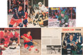 Hockey Collectibles:Photos, Hockey Stars and Hall of Famers Signed Magazine Photographs Lot of39....